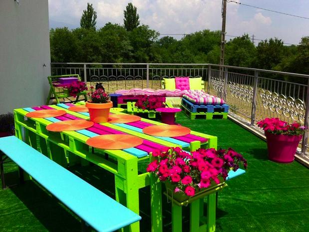 diy.decoracao jardim paletes 1