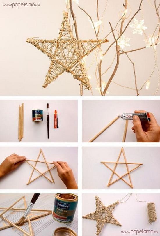 enfeite natal reciclado barato estrela