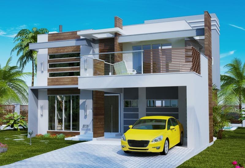 fachada da casa com elegancia