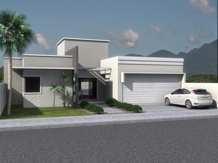fachada de casa cor cinza