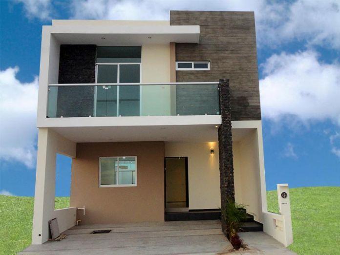 fachada de casa moderna modelo
