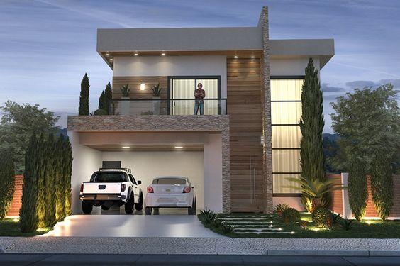 15 ideias fant sticas de fachadas de sobrados modernos for Las mejores fachadas de las villas