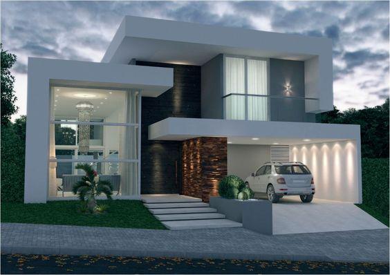 15 ideias fant sticas de fachadas de sobrados modernos for Casa moderna 2 andares 3 quartos