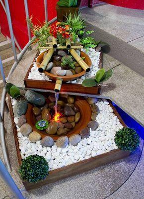 fazer fonte bambu jardim 1