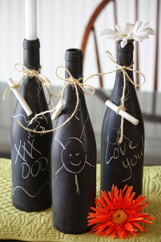 garrafa decorada dia pais simples