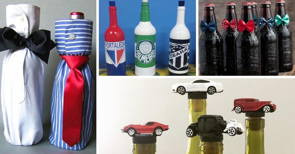 garrafas para Dia dos Pais