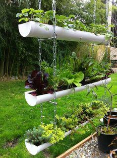 hortas suspensas tubos pvc