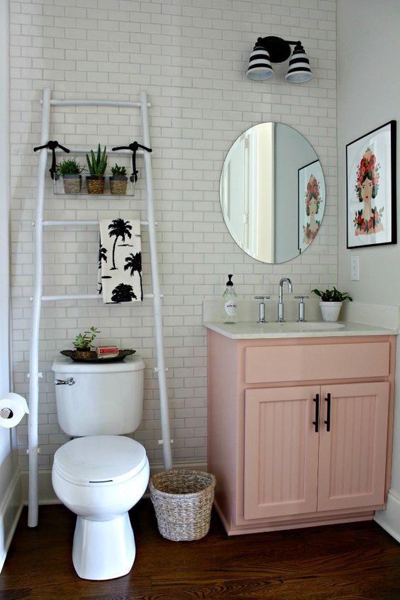 ideias baratas decorar banheiro 7