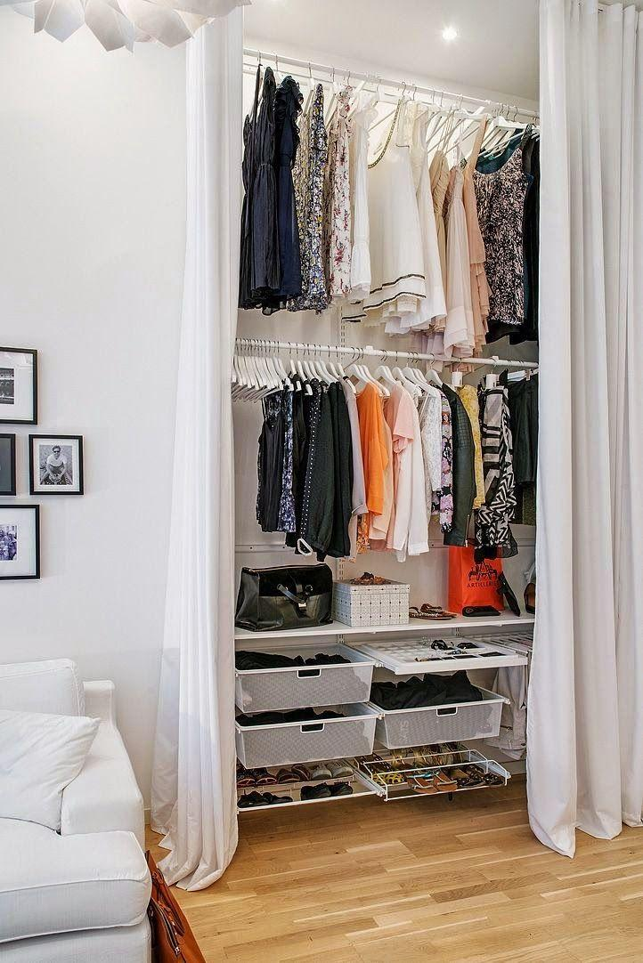 Ideias de closets pequenos for Decorar puertas viejas de interior