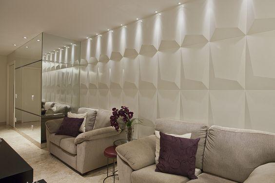 ideias decoração parede gesso 2
