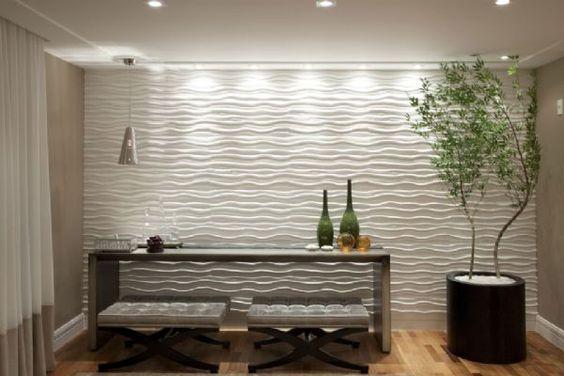 ideias decoração parede gesso 1