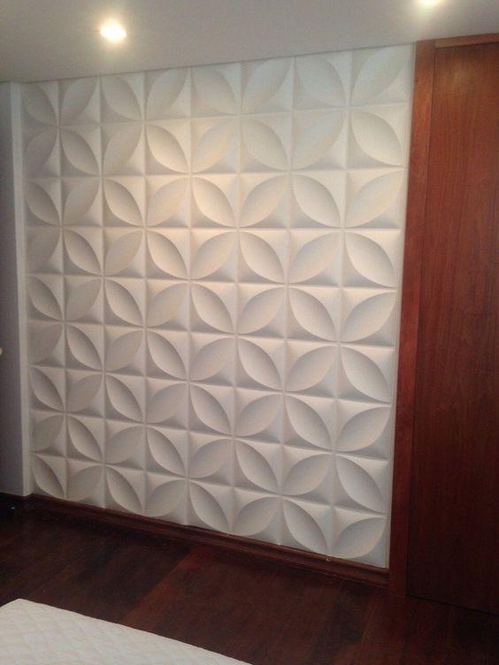 ideias decoração parede gesso