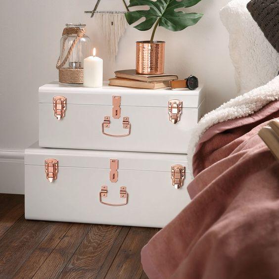ideias decoracao baus decorativos