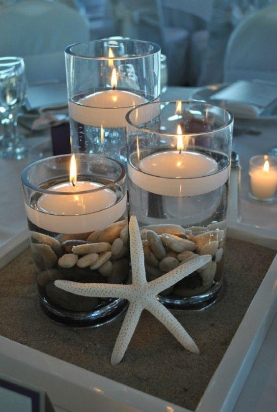 ideias decoracao casamento praia mar