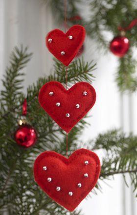 ideias decoracao coracao feltro vermelho
