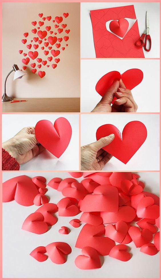 ideias decoracao coracao papel