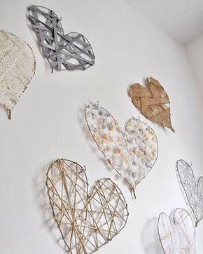 ideias decoracao coracao parede