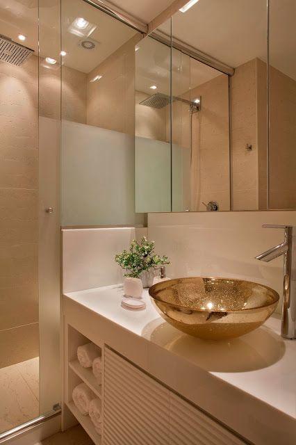 ideias decoracao dourado banheiro 1