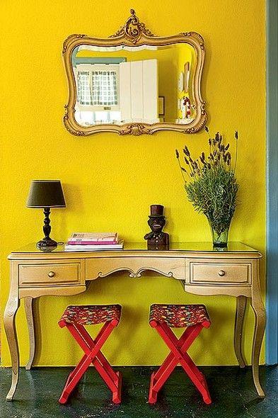ideias decoracao dourado moveis