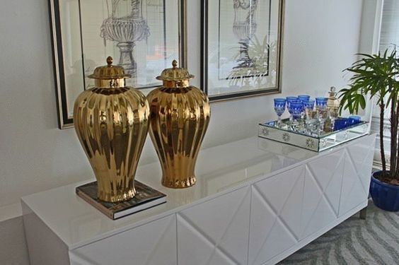 ideias decoracao dourado sala 1