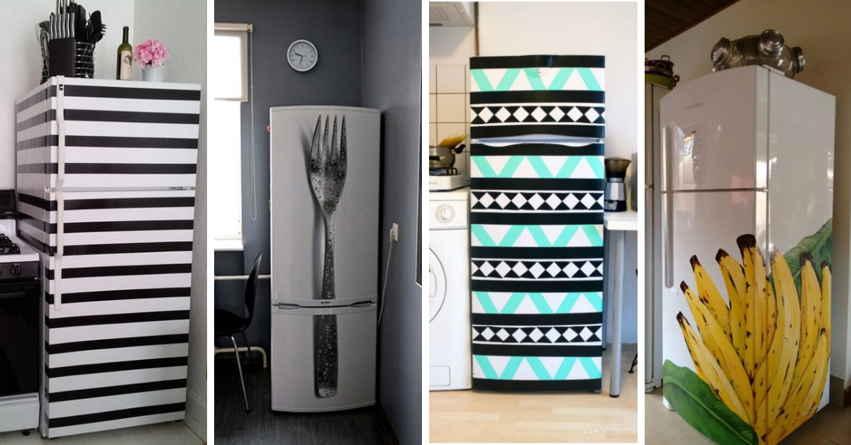 ideias decorar geladeira
