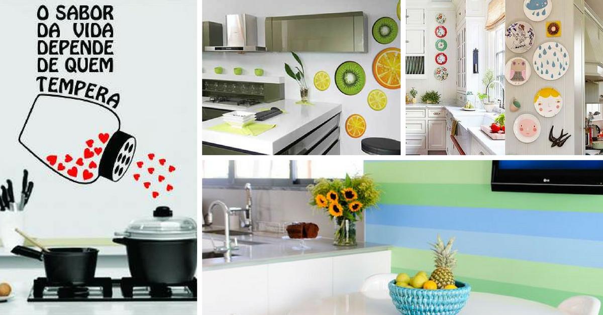 ideias decorar paredes cozinha