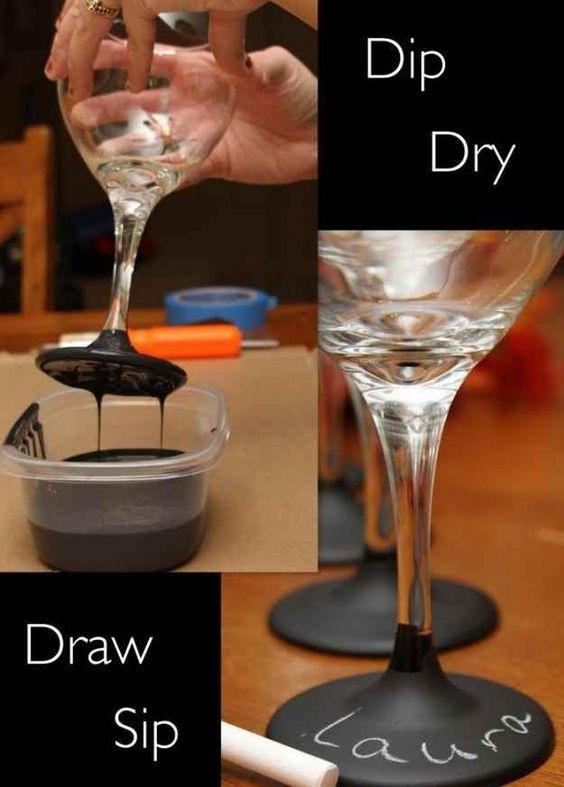 ideias distinguir copos festa 2