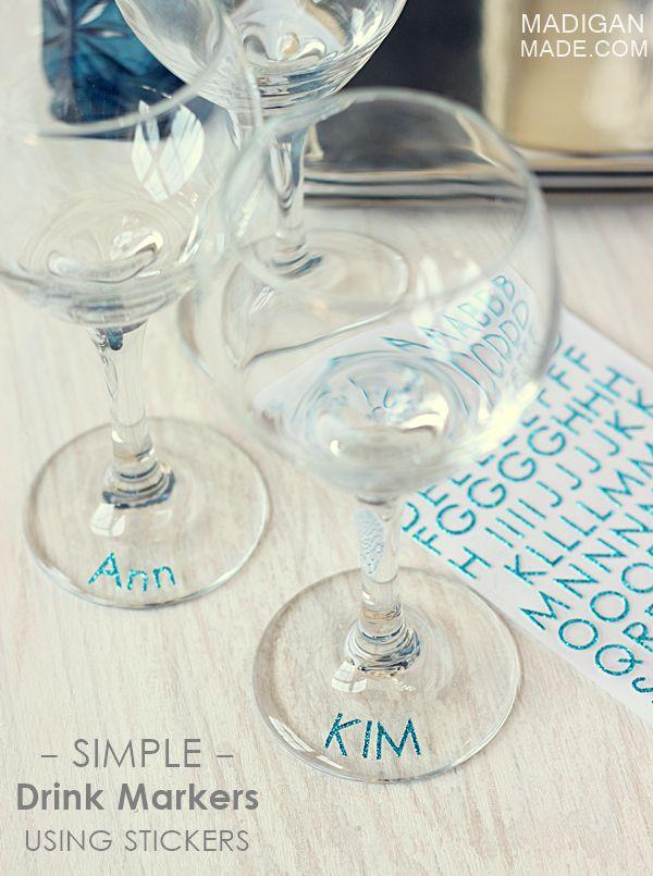 ideias distinguir copos festa 5
