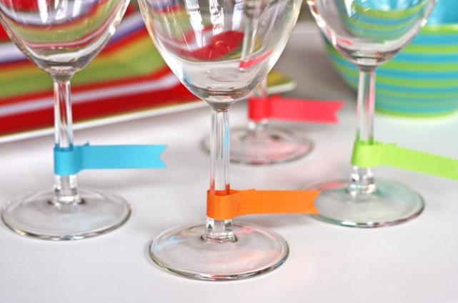 ideias distinguir copos festa