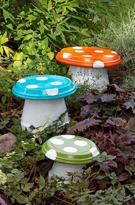 ideias diy decorar jardim
