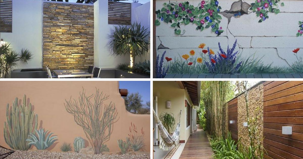 ideias muros decorados