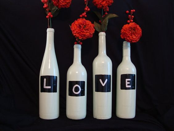 ideias para decorar garrafas de vidro 2