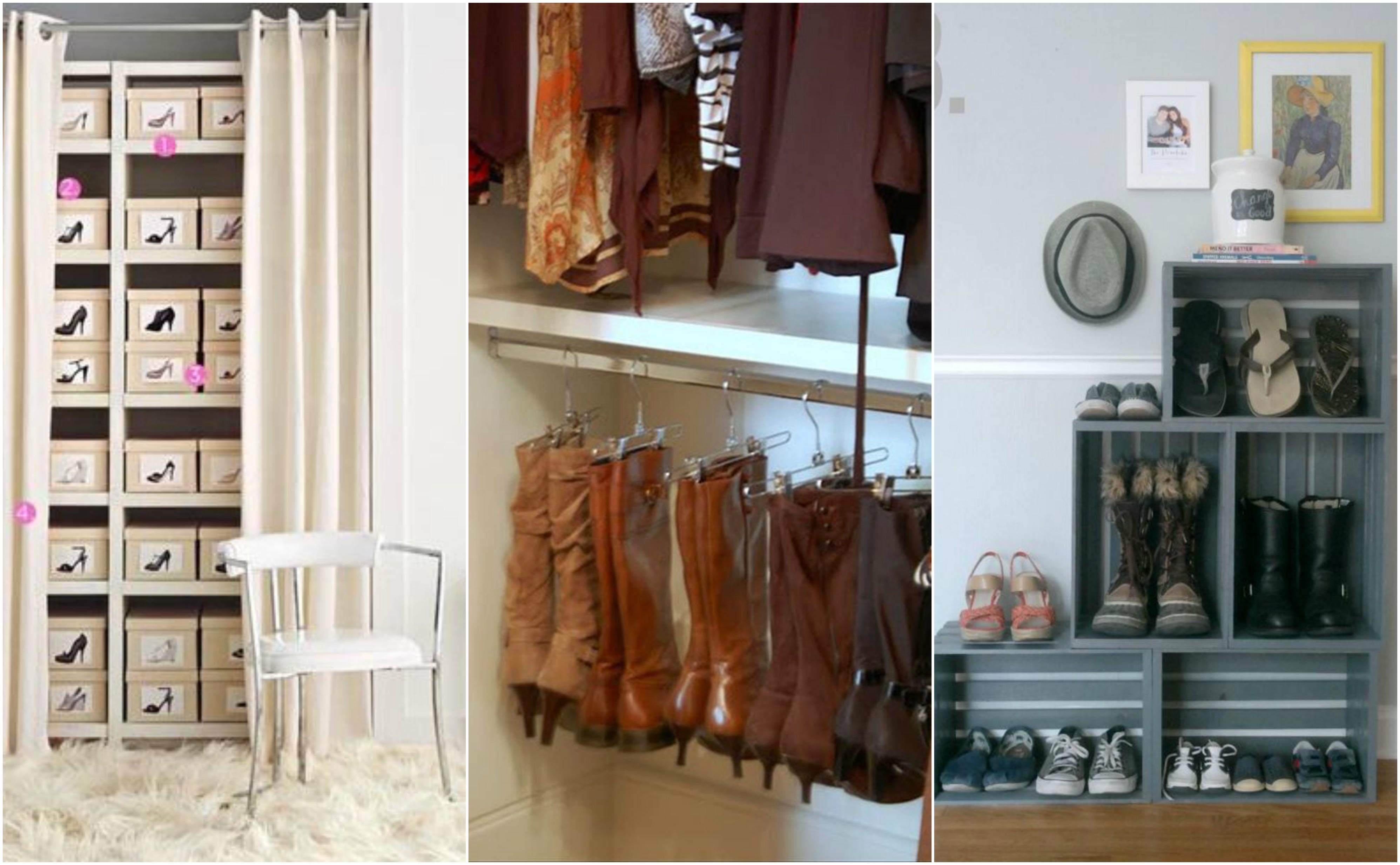 ideias para organizar sapatos