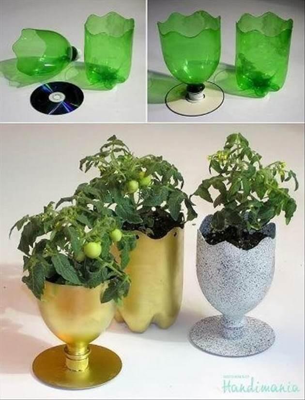 ideias vaso garrafa pet diy