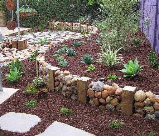 jardins decorados pedras