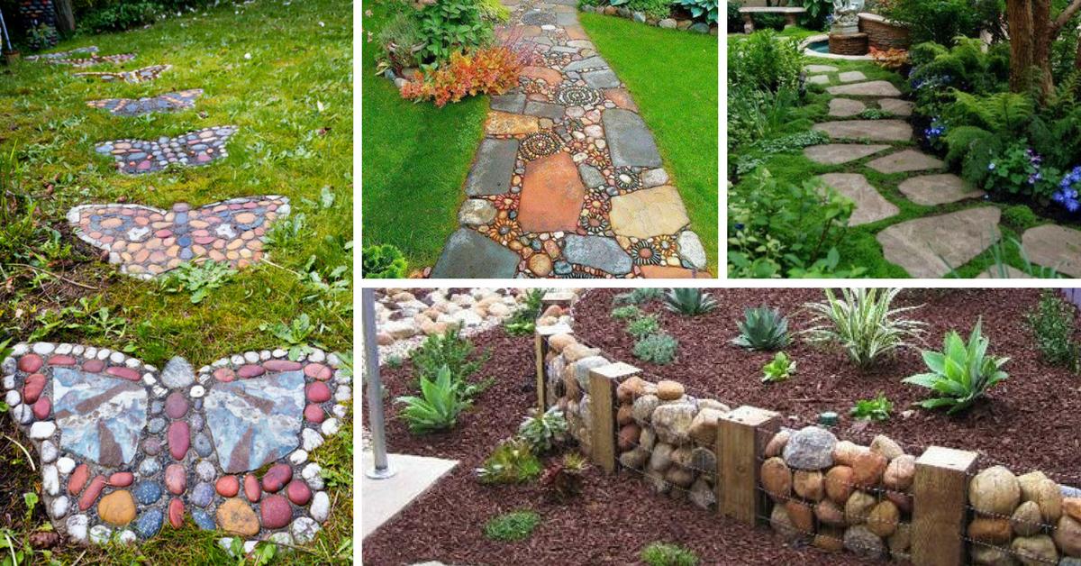 Jardins com Pedras Decorativas # Decoração De Jardim Com Pedras Grandes