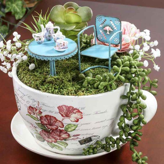 10 Ideias De Mini Jardins Em Xcaras