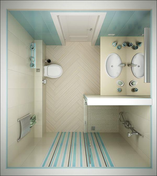modelo de banheiro pequeno