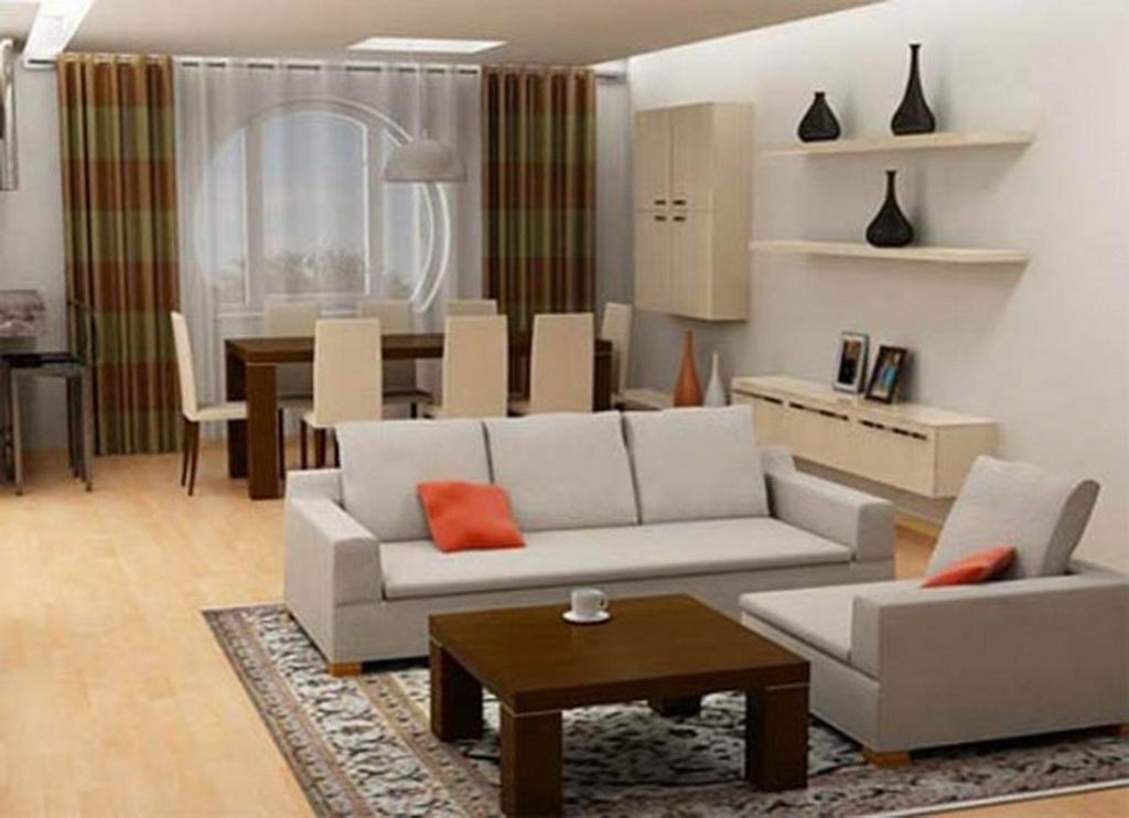 modelo de sala pequena decorada