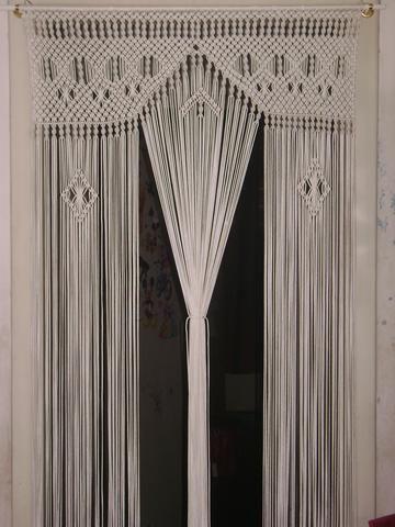 modelos cortinas croche branca