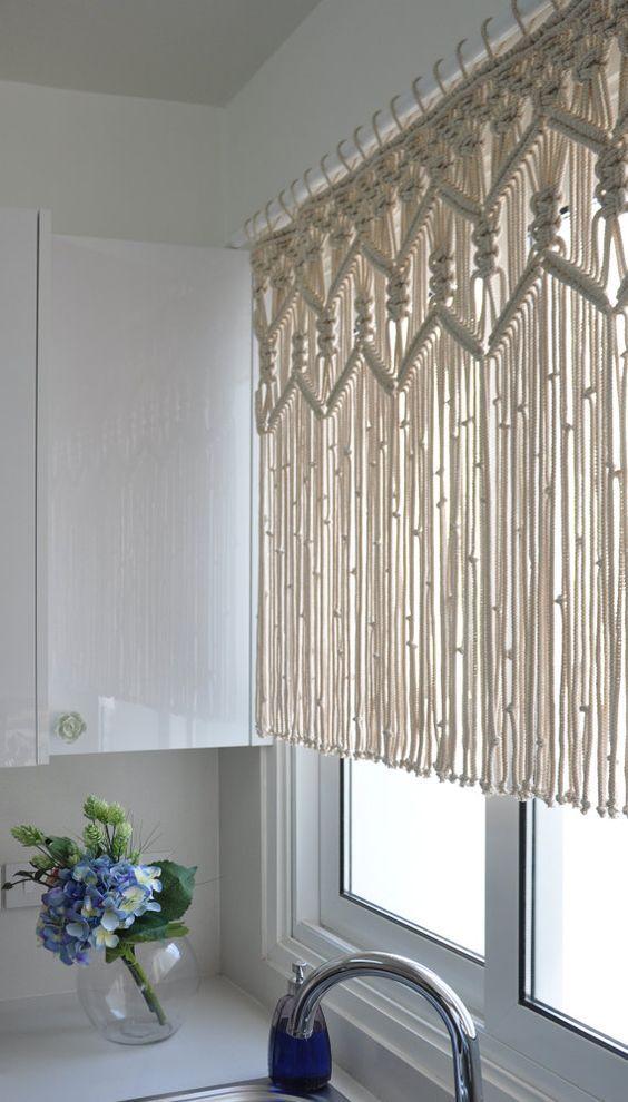modelos cortinas croche clara