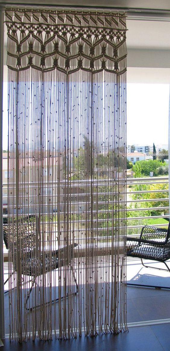 modelos cortinas croche comprida