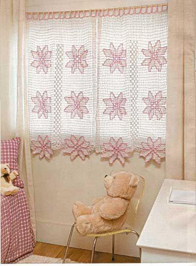 modelos cortinas croche quarto bebe