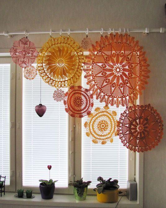 modelos cortinas croche