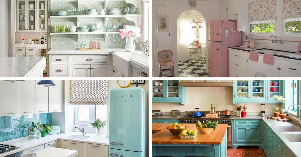 modelos cozinhas vintage