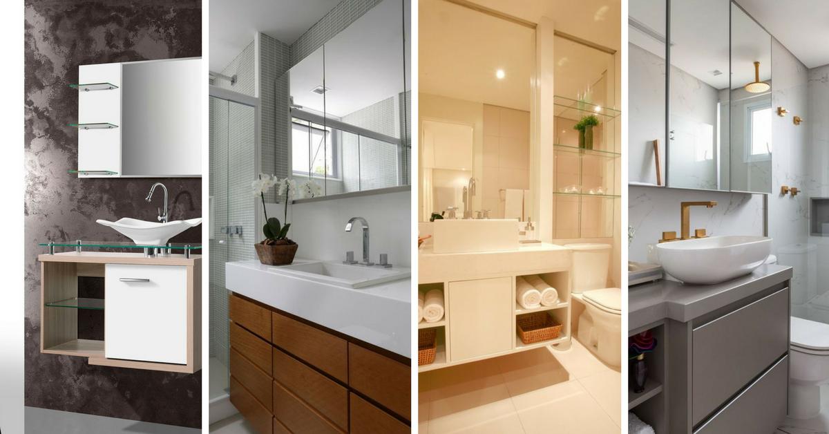 modelos decoracao gabinete banheiro