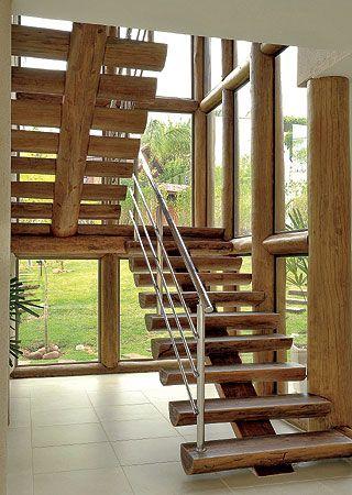modelos escadas madeira