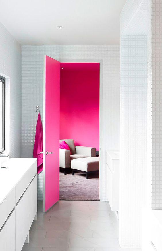 modelos portas casa bicolor