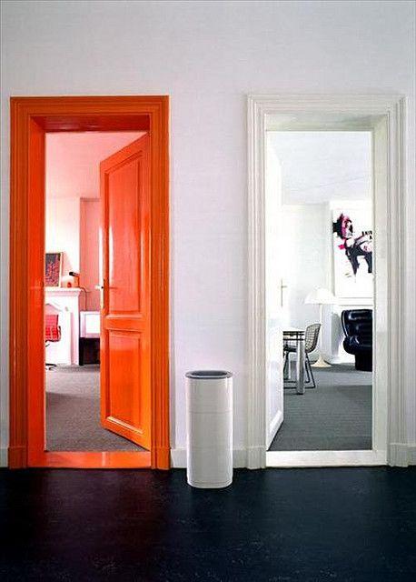 modelos portas casa coloridas