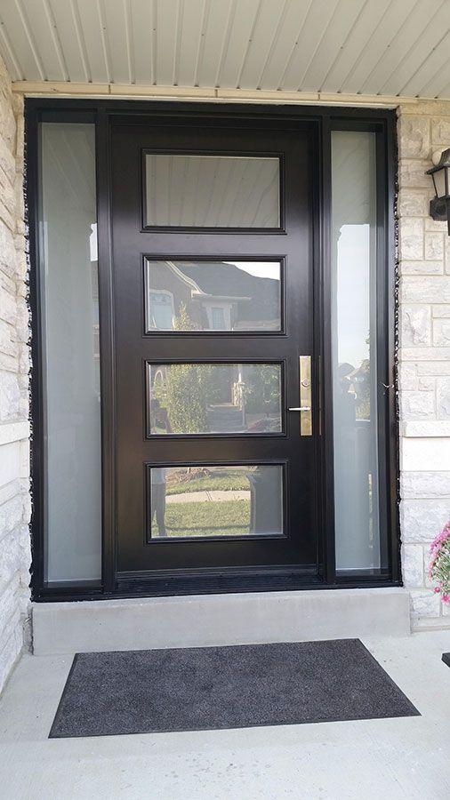 modelos portas casa exterior madeira vidro